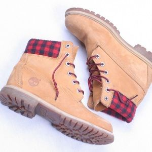 Plaid Timberlands